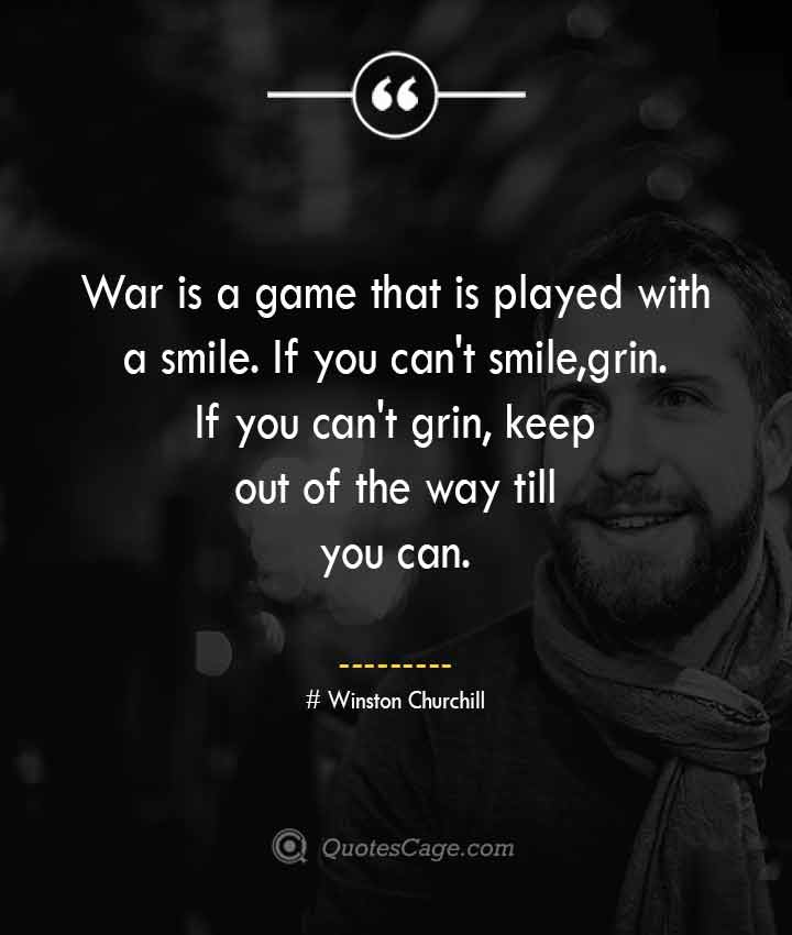 Winston Churchill quotes about Smile