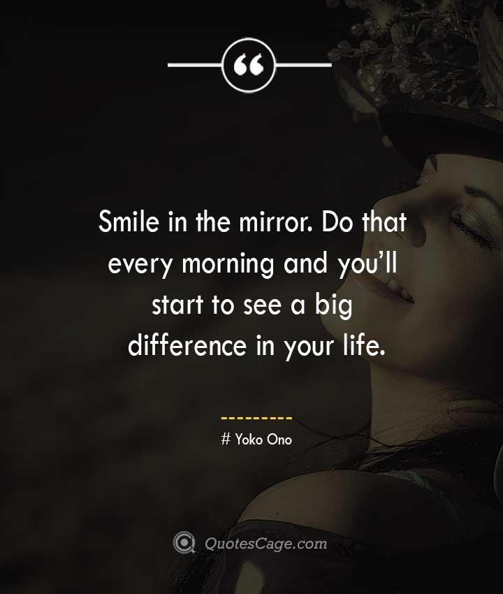 Yoko Ono quotes about Smile