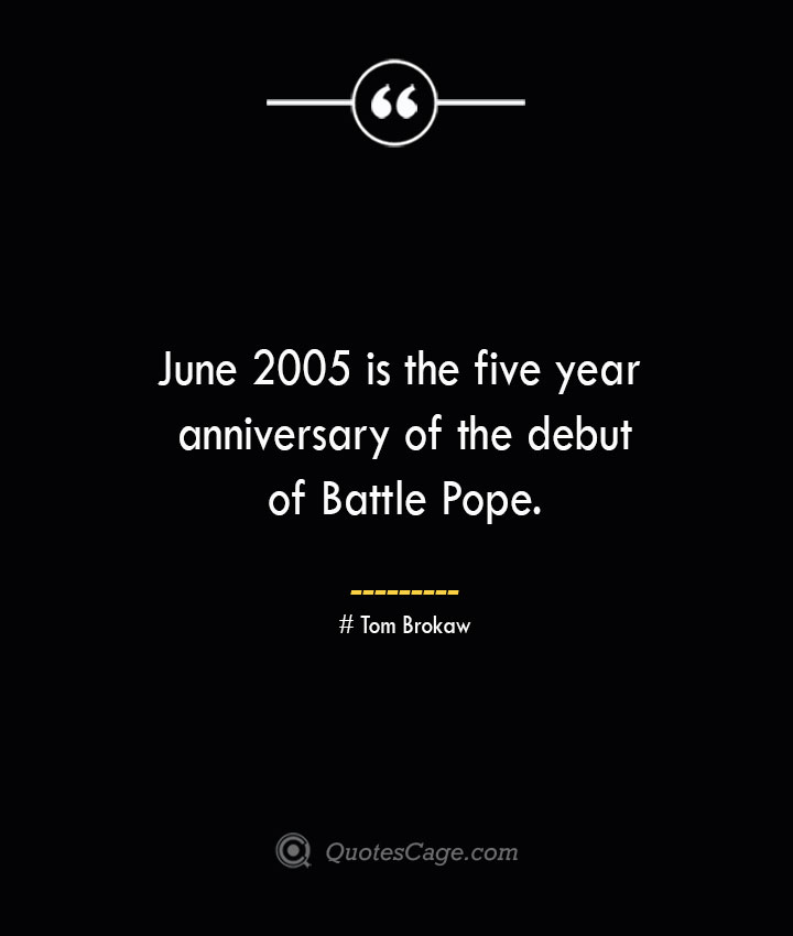 June 2005 is the five year anniversary of the debut