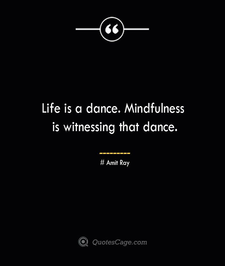 Life is a dance. Mindfulness is witnessing that dance.— Amit Ray