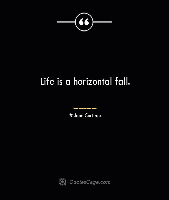 Life is a horizontal fall.— Jean Cocteau